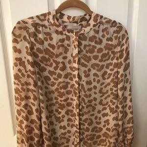 Leopard print Banana Republic blouse